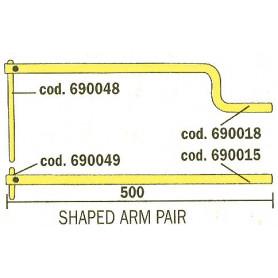 Paire de bras avec électrodes