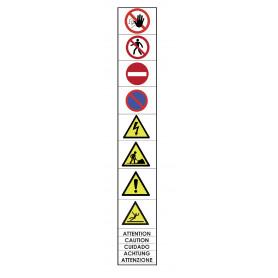 9 autocollants danger