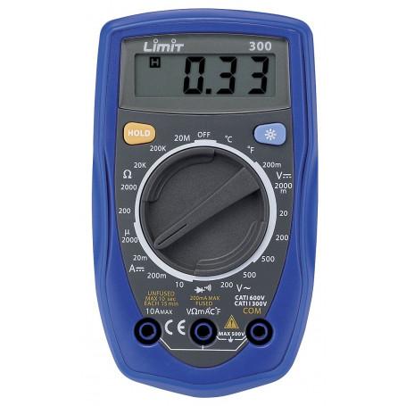 Multimètre digital CAT I 600V / CAT II 300V