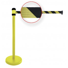 Poteaux à sangle jaune/noir