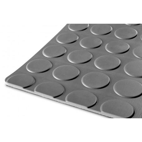 Caoutchouc pastille 1m x 1,2m x 3mm gris