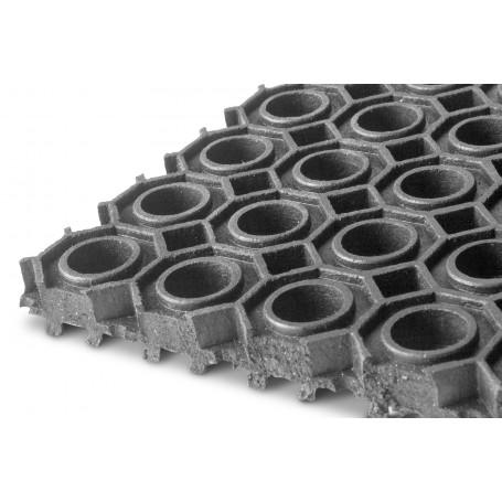 Tapis caoutchouc à anneaux EPDM 9,24m x 1m x 13mm