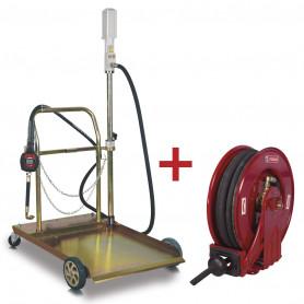 Pack pompe pour liquides 5:1 avec enrouleur de 10m