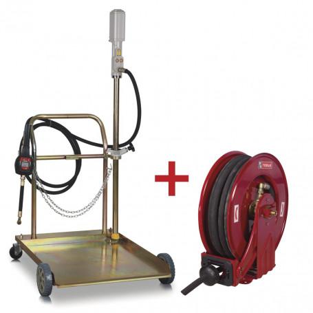 Pack pompe pour liquides 3:1 avec enrouleur de 10m
