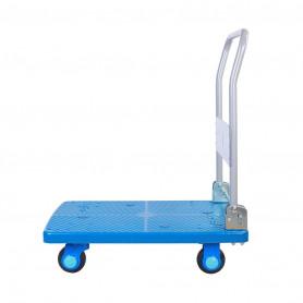 Chariot plateforme 150 kg pliable, silencieux et très maniable