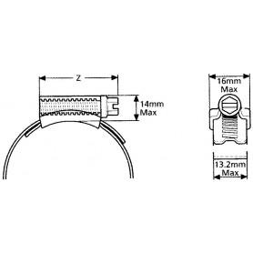 Colliers de serrage zingée