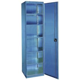 Armoire 5 Tiroirs-15 Casiers A Plastique Petits bleu