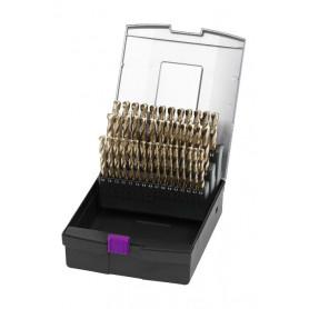 Jeu de 51 forets en cobalt DIN338 1 à 6 mm