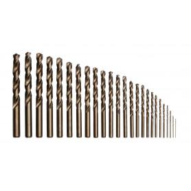 Jeu de 25 forets en cobalt DIN338 1 à 13 mm