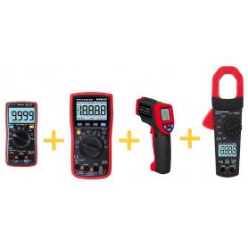 Set 4 instruments de mesure