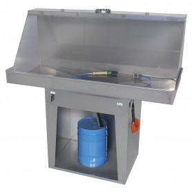 Nettoyeur de pièces avec pompe à membrane pneumatique