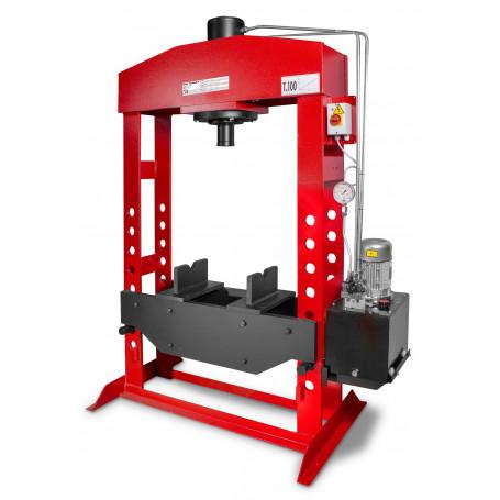 Presse hydraulique d'atelier motorisée 100 t