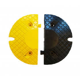 Pièces d'extrémité 50 mm 1 noire + 1 jaune