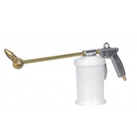 Pistolet de nettoyage à air comprimé buse rotative à 360° et réservoir de 0,7 litre