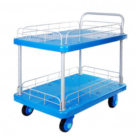 Chariot plateforme 300kg 2 plateaux