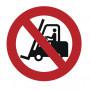 Autocollant d'interdiction chariot élévateur