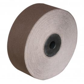 Bande abrasive sur rouleau bois - 80x50.000 mm