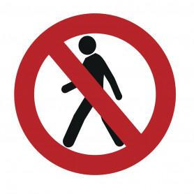 Autocollant interdit aux piétons