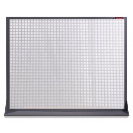 Panneau perforé plat en métal gris 120x94cm