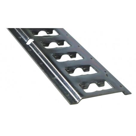 Rail de fixation en acier plat/rond