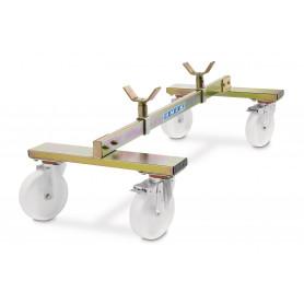 Chariot support d'essieu pour véhicules 800 kg avec frein