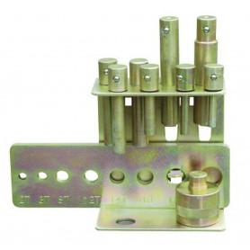 Set de poinçons 10-30 mm pour presses