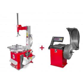 Pack démonte-pneu et équilibreuse de roues BT100+BB200 MW-Tools BT100 +BB200