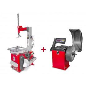 Pack démonte-pneu et équilibreuse de roues BT100M+BB200 MW-Tools BT100M + BB200
