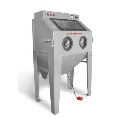 Cabine de sablage professionnelle 350 L avec aspiration + tête sablage fixe MW-Tools CAT415