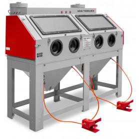 Cabine de sablage professionnelle double 880l avec aspiration MW-Tools CAT880