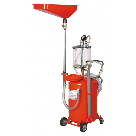 récupérateur et aspirateur d'huile pneum. 65lt. MW-Tools ODC65