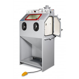 Cabine de sablage à injecteur 370l+cyclone+aspiration MW-Tools SCIN370