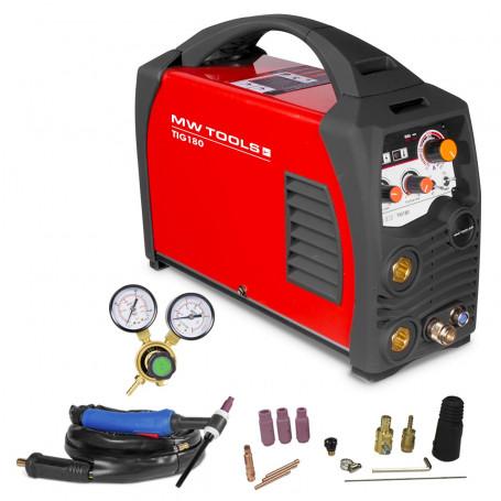 Poste à souder inverter TIG 180 A - HF - manomètre inclus MW-Tools TIG180