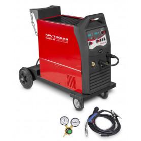 Poste à souder MIG MAG FLUX industriel mobile 250 A - manomètre inclus MW-Tools MIG250I-4R