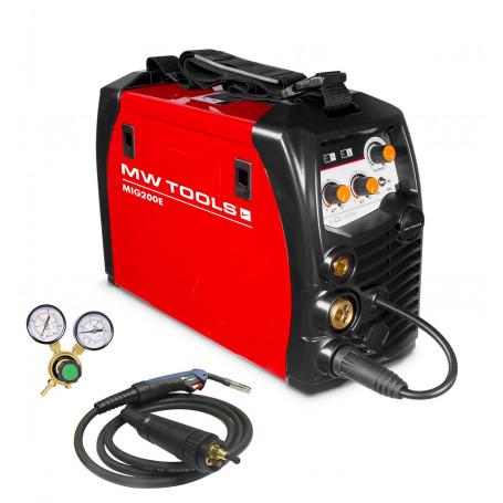 Poste à souder onduleur MIG-MAG-FLUX 200A - manomètre inclus MW-Tools MIG200E