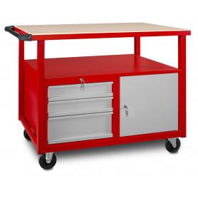 Servante atelier avec 3 tiroirs 1 armoire MW-Tools DEW12060L