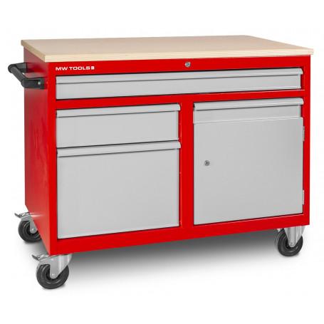 Établi mobile 3 tiroirs + 1 armoire MW-Tools DEW12060L3