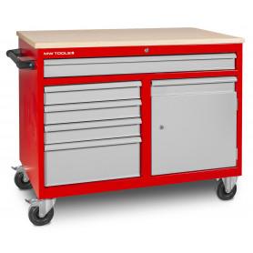 Établi mobile 5 tiroirs + 1 armoire MW-Tools DEW12060L5