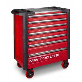 Servante robuste 7 tiroirs rouge MW-Tools GWA107