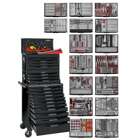 Servante d'atelier 'Black Edition' 1226 pcs Teng Tools TCMM1011NBK
