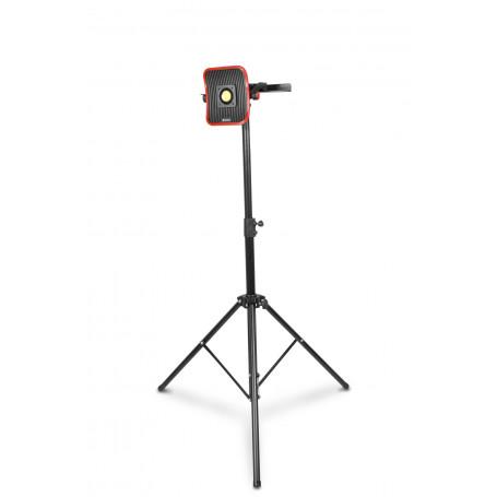Lampe de chantier FLOW LED 30 W + Batterie 4h + Trépied télescopique 1800mm MW-Tools WFL30LIS