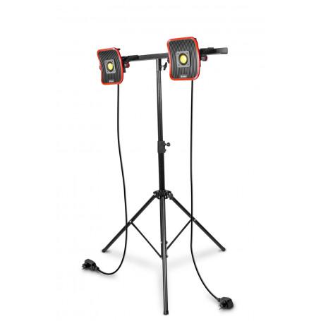 2x Lampe de chantier FLOW LED 30 W + Trépied télescopique 1800mm MW-Tools WFL2x30S