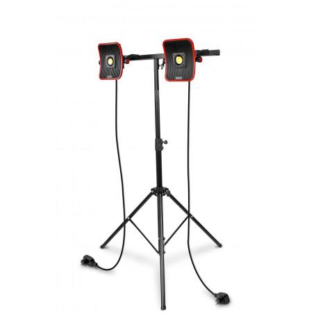 2x Lampe de chantier FLOW LED 50 W + Trépied télescopique 1800mm MW-Tools WFL2x50S