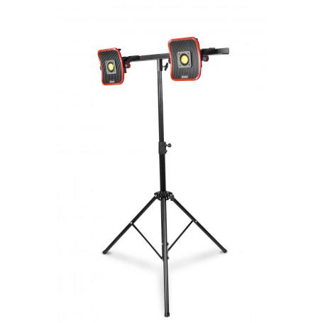 2x Lampe de chantier FLOW LED 30 W + 2x Batterie 4h + Trépied télescopique 1800mm MW-Tools WFL2x30LIS