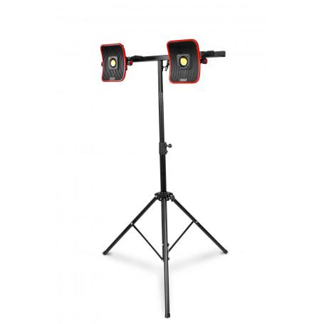 2x Lampe de chantier FLOW LED 50 W + 2x Batterie 6h + Trépied télescopique 1800mm MW-Tools WFL2x50LIS