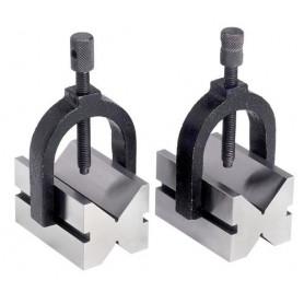 Paire de blocs en V ø 30 mm - étriers de serrage réglables MW-Tools VBL3001