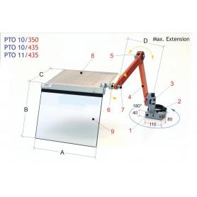 Protection pour porte-outil de tour MW-Tech PTO 10/435