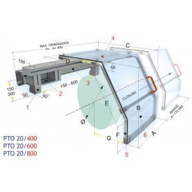Protection coulissante de tour 800 MW-Tech PTO 20/800