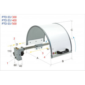 Protection de mandrin MW-Tech PTO 03/400