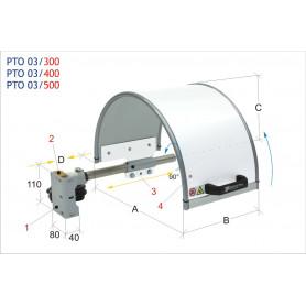 Protection de mandrin  MW-Tech PTO 03/300
